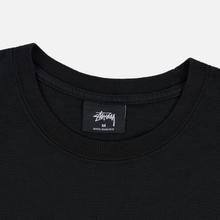 Мужская футболка Stussy Stock Pigment Dyed Black/White фото- 1