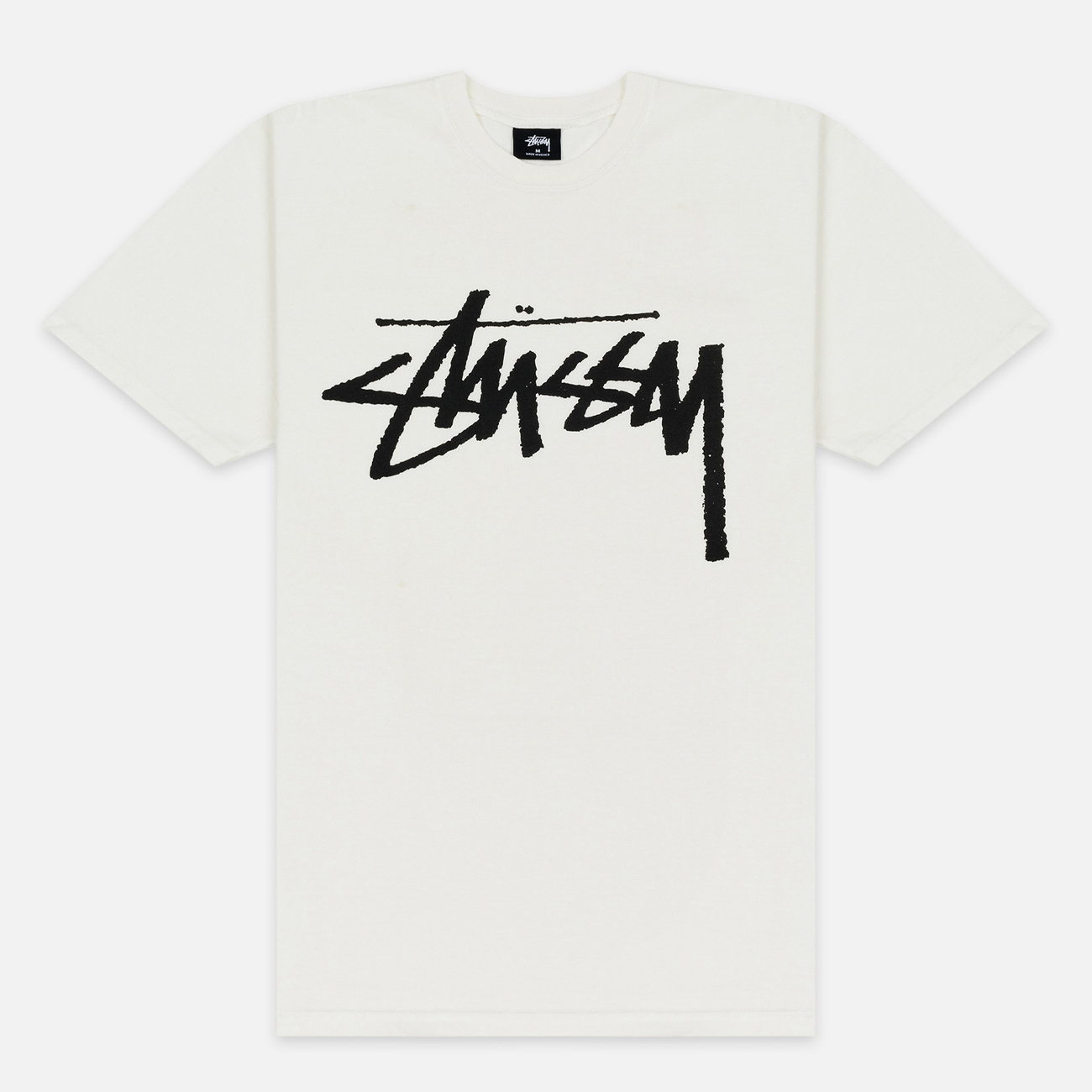 Мужская футболка Stussy Stock Pigment Dyed Natural/Black