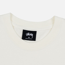 Мужская футболка Stussy Stock Pigment Dyed Natural/Black фото- 2