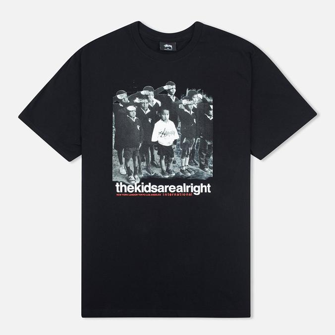 Stussy The Kids Are Alright Men's T-shirt Black