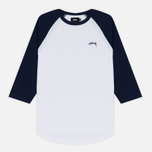 Мужская футболка Stussy Thermal 3/4 Raglan Jersey Navy фото- 0