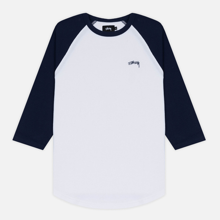 Мужская футболка Stussy Thermal 3/4 Raglan Jersey Navy