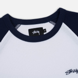 Мужская футболка Stussy Thermal 3/4 Raglan Jersey Navy фото- 1