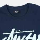 Мужская футболка Stussy World Tour Tee Navy фото- 1