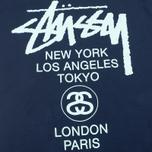 Мужская футболка Stussy World Tour Tee Navy фото- 2