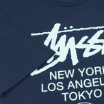 Мужская футболка Stussy World Tour Tee Navy фото- 3