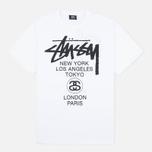 Мужская футболка Stussy World Tour Tee White фото- 0