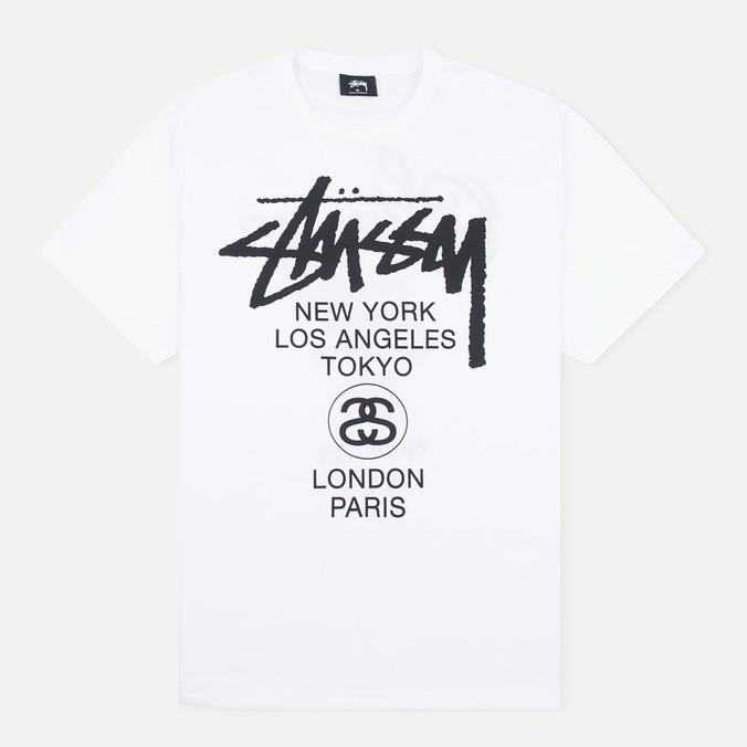 Мужская футболка Stussy World Tour Tee White
