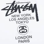Мужская футболка Stussy World Tour Tee White фото- 2