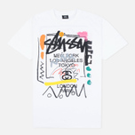 Stussy WT Doodle Men's T-shirt White photo- 0