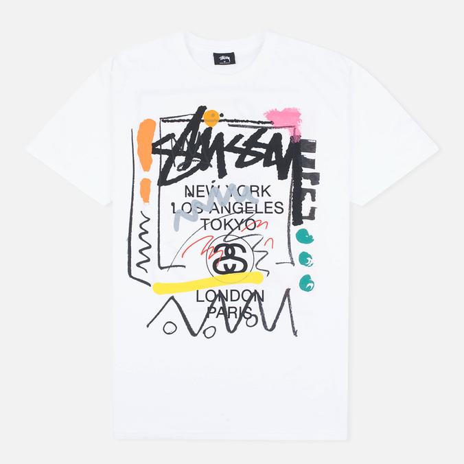 Мужская футболка Stussy WT Doodle White