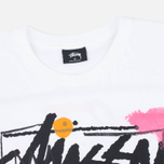 Stussy WT Doodle Men's T-shirt White photo- 1