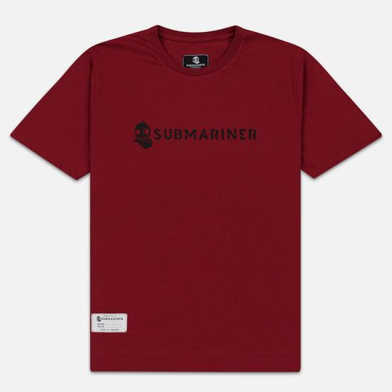 Мужская футболка Submariner Basic Logo Dazzle Bordeaux
