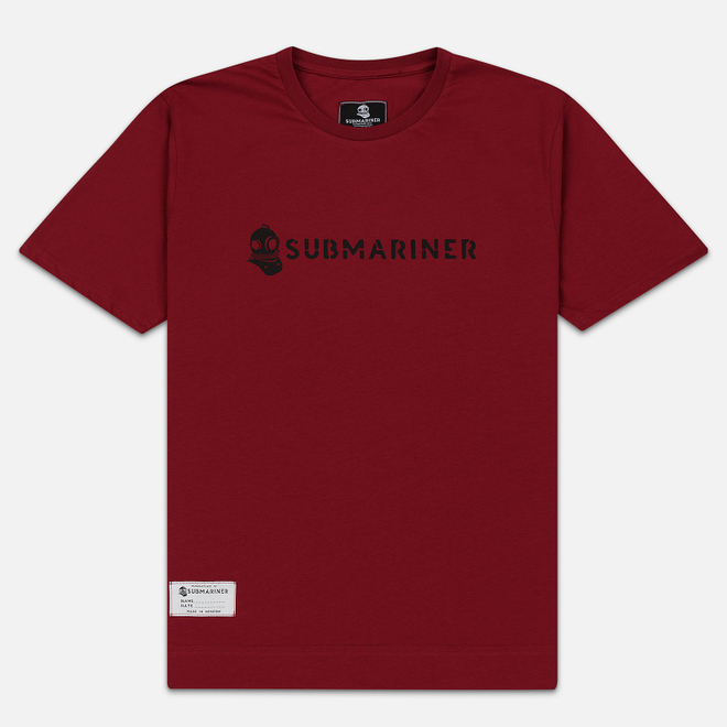 Мужская футболка Submariner Basic Logo Dazzle Bordeaux