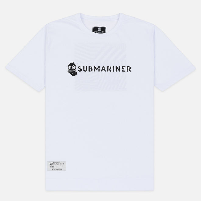 Мужская футболка Submariner Basic Logo Dazzle White