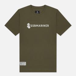 Мужская футболка Submariner Basic Logo Khaki