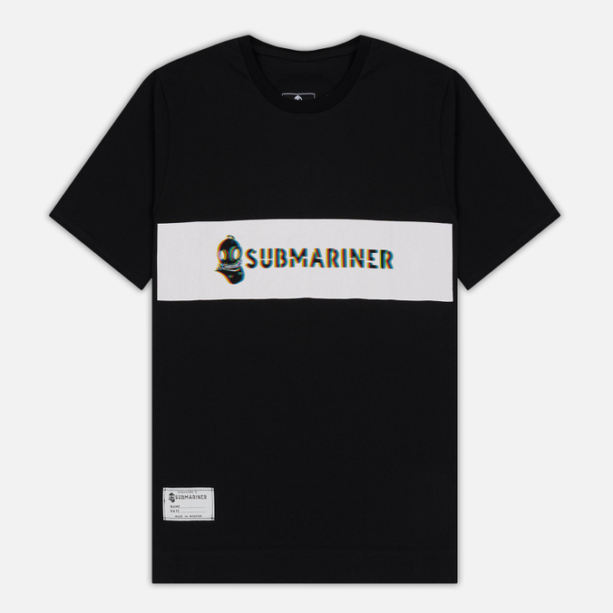 Мужская футболка Submariner Glitch Basic Logo Black
