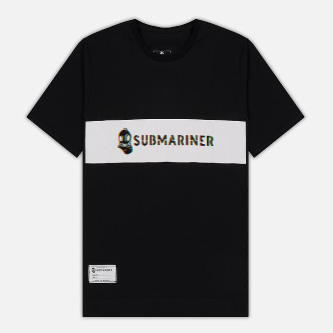 Мужская футболка Submariner Glitch Basic Logo Black