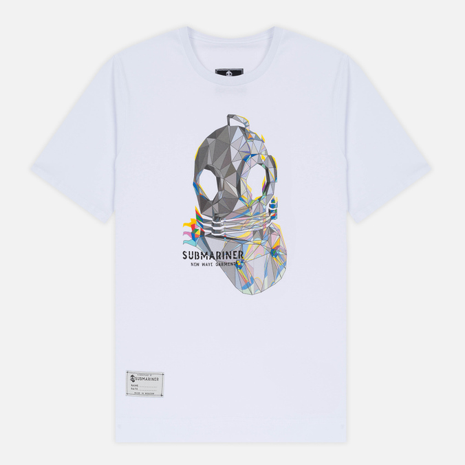 Мужская футболка Submariner Glitch Helmet White