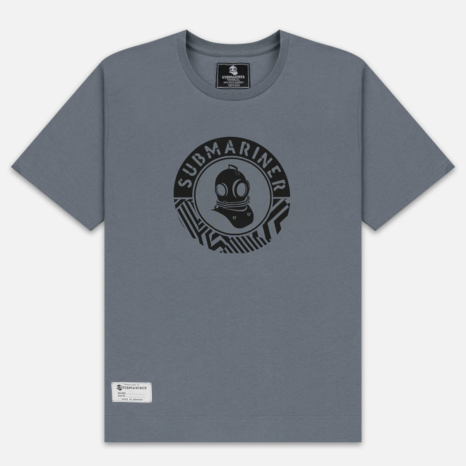 Мужская футболка Submariner Mine Logo Print Grey