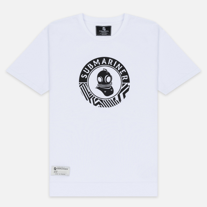 Мужская футболка Submariner Mine Logo Print White