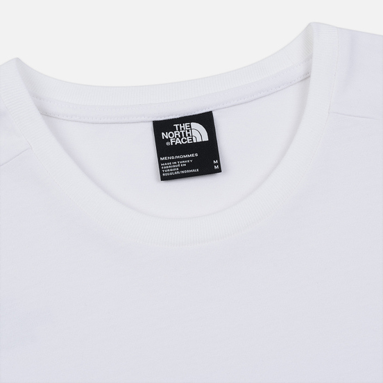 Мужская футболка The North Face Fine 2 TNF White Reflective/TNF Black