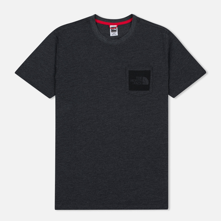 The North Face Fine Pocket TNF Men's T-Shirt Dark Grey Heather