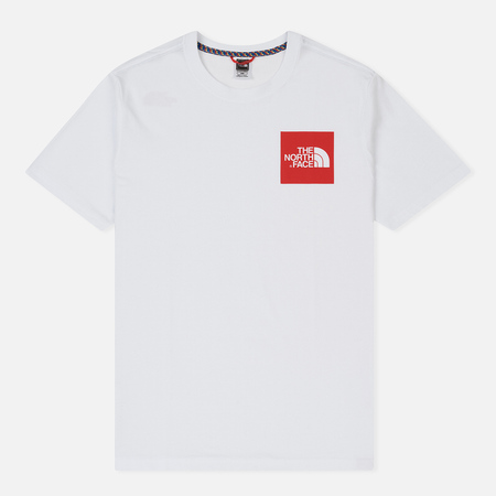 Мужская футболка The North Face Fine SS TNF White/Red