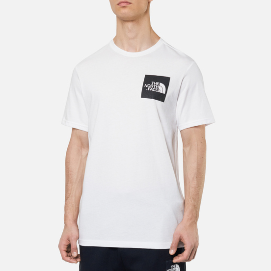 Мужская футболка The North Face Fine SS TNF White/TNF Black