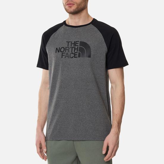 Мужская футболка The North Face Raglan Easy Medium Grey Heather