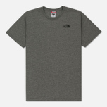 Мужская футболка The North Face Red Box TNF Medium Grey Heather фото- 0