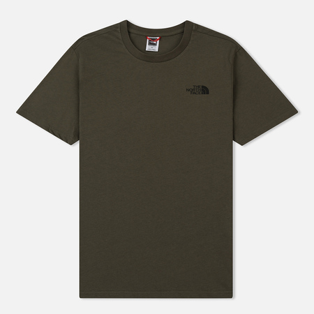 Мужская футболка The North Face Simple Dome New Taupe Green/TNF Black