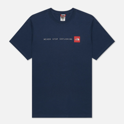 Мужская футболка The North Face SS Never Stop Exploring Blue Wing Teal/TNF Red