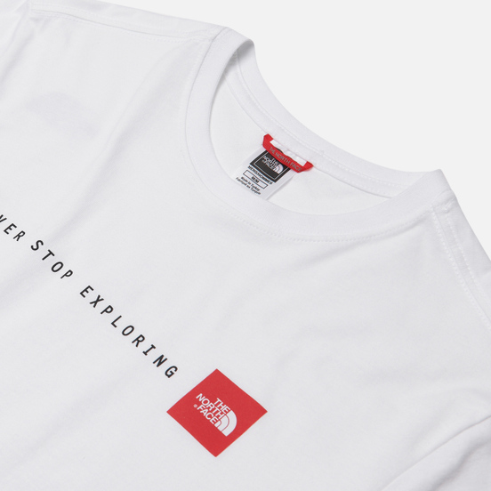 Мужская футболка The North Face SS Never Stop Exploring TNF White/TNF Red