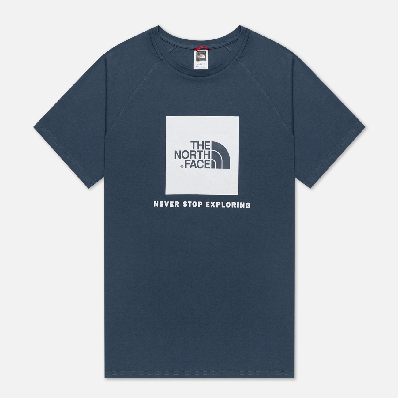 Мужская футболка The North Face SS Rag Red Box Blue Wing Teal