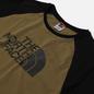 Мужская футболка The North Face SS Raglan Easy Burnt Olive Green фото - 1