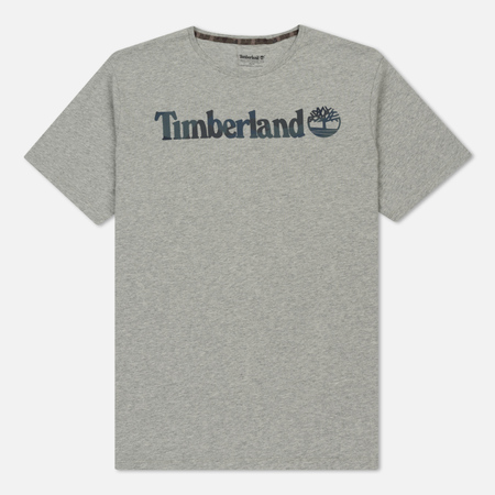 Мужская футболка Timberland Dunstan River Camo Medium Grey Heather Linear