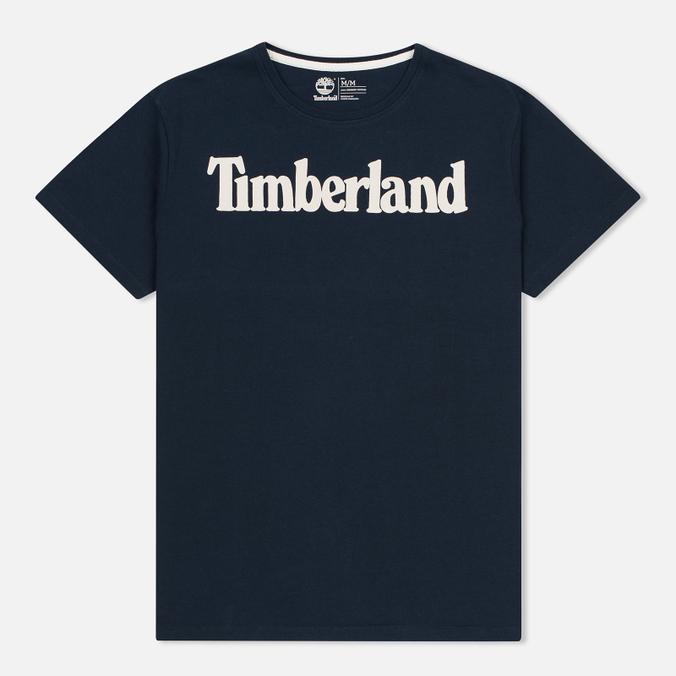 Мужская футболка Timberland Kennebec River Branded Logo Dark Sapphire
