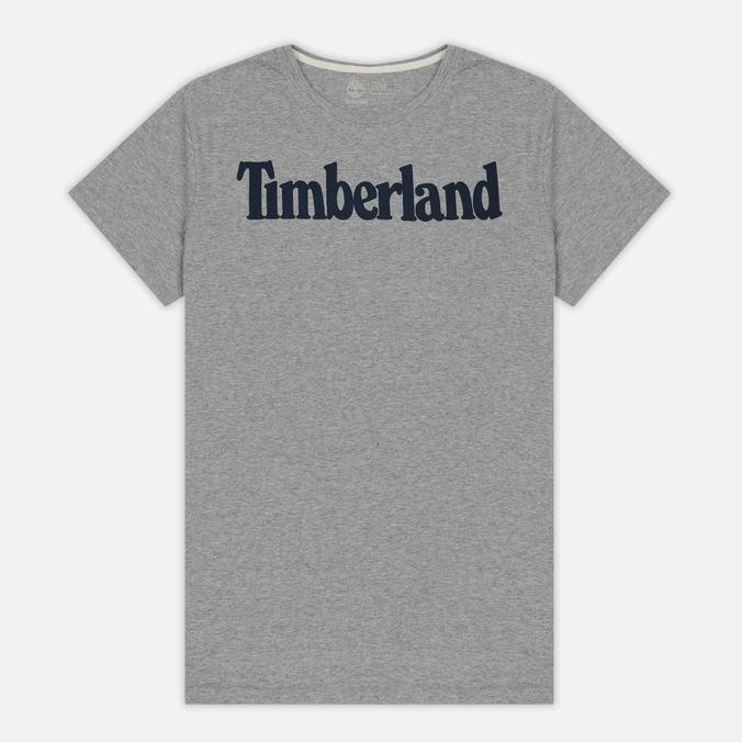 Мужская футболка Timberland Kennebec River Branded Logo Medium Grey Heather