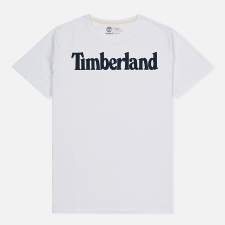 Мужская футболка Timberland Kennebec River Branded Logo White