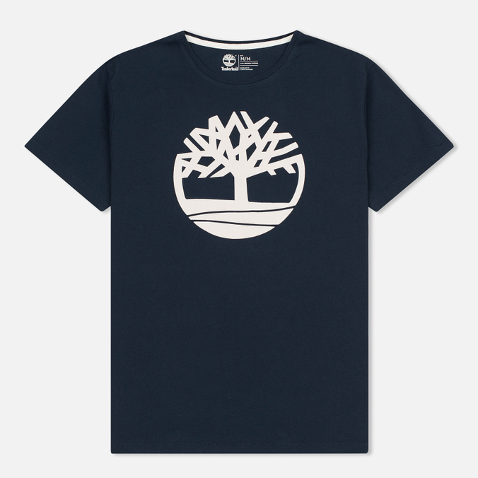 Мужская футболка Timberland Kennebec River Tree Logo Dark Sapphire