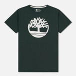 Мужская футболка Timberland Kennebec River Tree Logo Darkest Spruce фото- 0