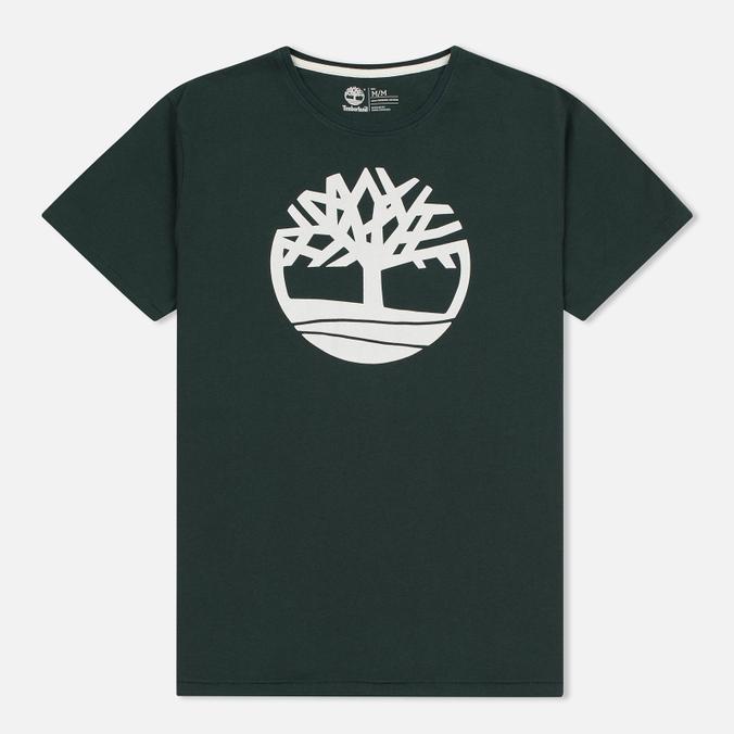 Мужская футболка Timberland Kennebec River Tree Logo Darkest Spruce