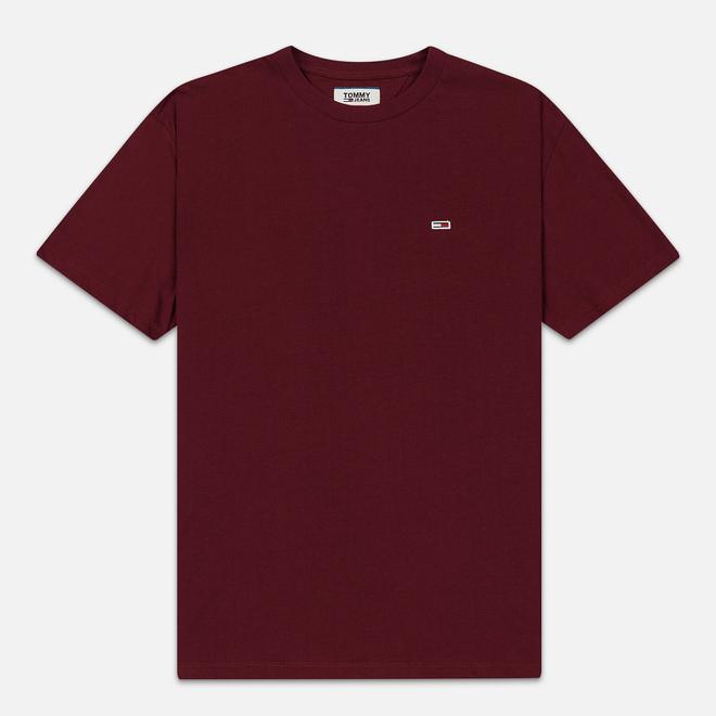 Мужская футболка Tommy Jeans Classic Fit Tommy Classics Burgundy