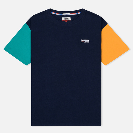 Мужская футболка Tommy Jeans Color Block Black Iris/Multicolor