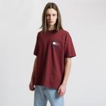 Мужская футболка Tommy Jeans Crest Flag Cabernet фото- 3