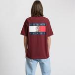 Мужская футболка Tommy Jeans Crest Flag Cabernet фото- 5