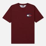 Мужская футболка Tommy Jeans Crest Flag Cabernet фото- 0