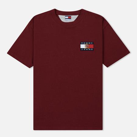 Мужская футболка Tommy Jeans Crest Flag Cabernet