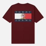 Мужская футболка Tommy Jeans Crest Flag Cabernet фото- 1